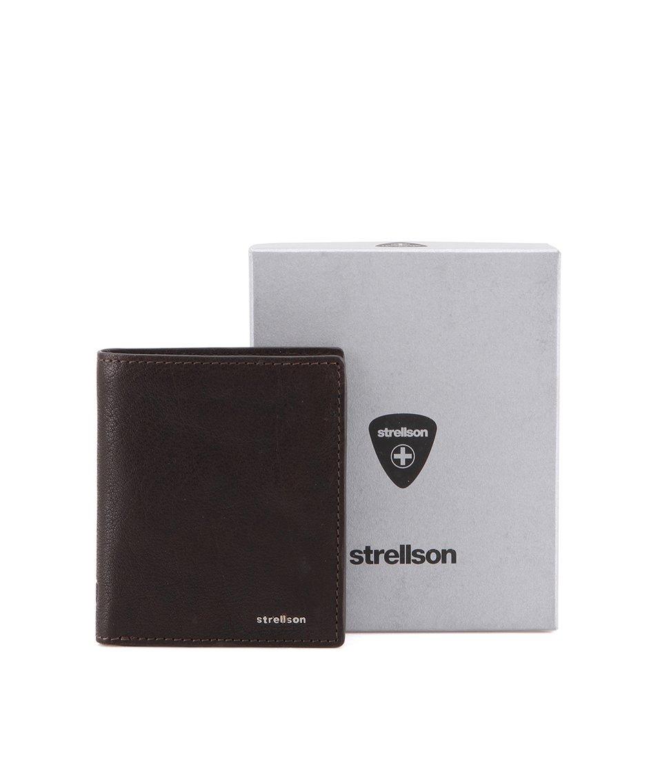 Tmavě hnědá kožená peněženka Strellson Jefferson
