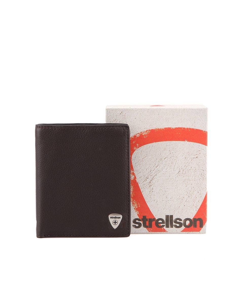Tmavě hnědá kožená peněženka Strellson Harrison V11