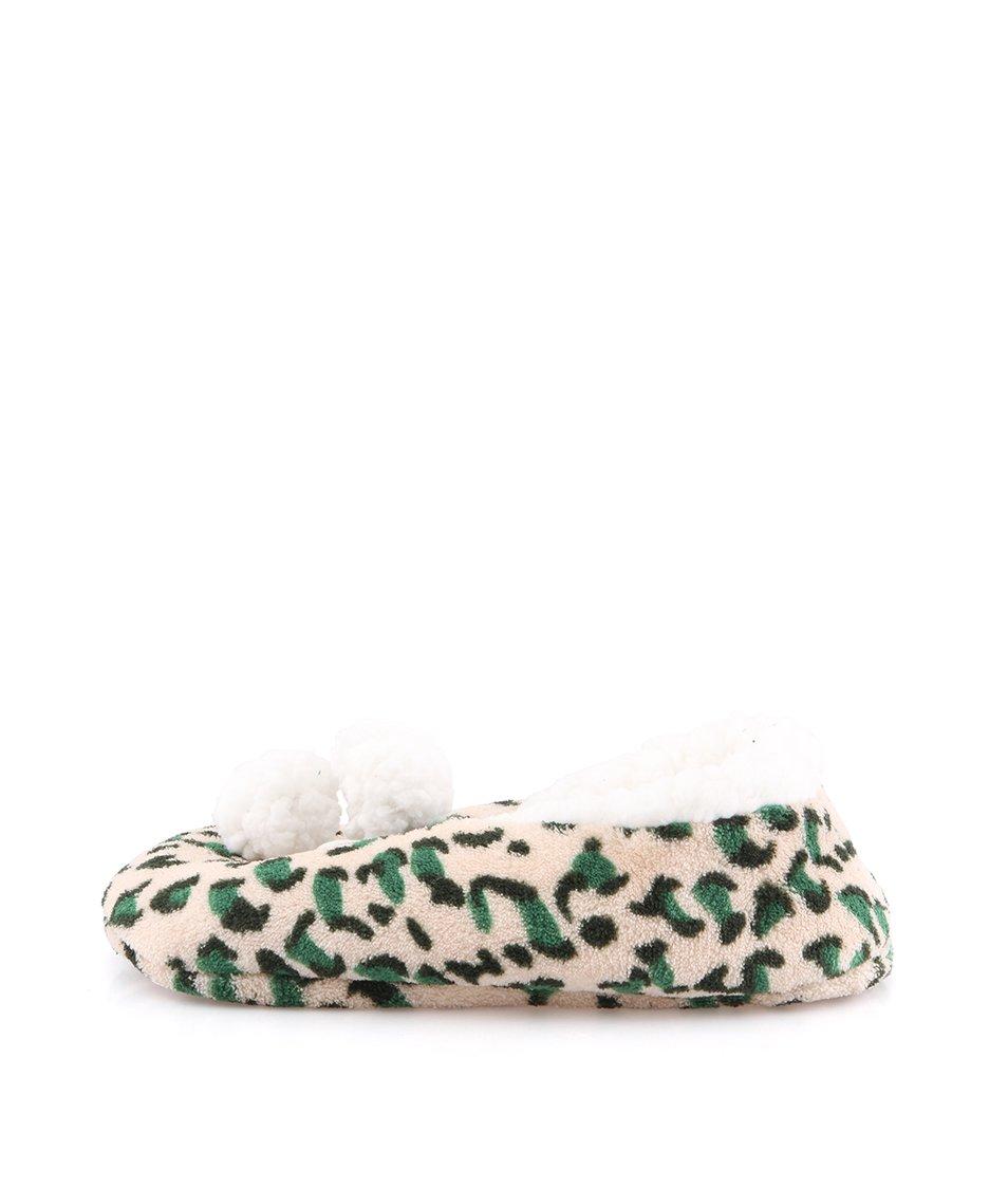 Béžové leopardí domácí balerínky Something Special by Moon