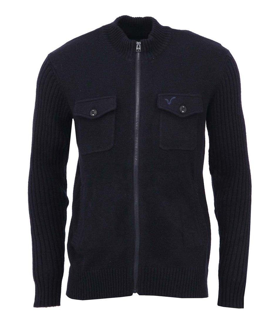 Tmavě modrý pánský svetr Voi Jeans Rib