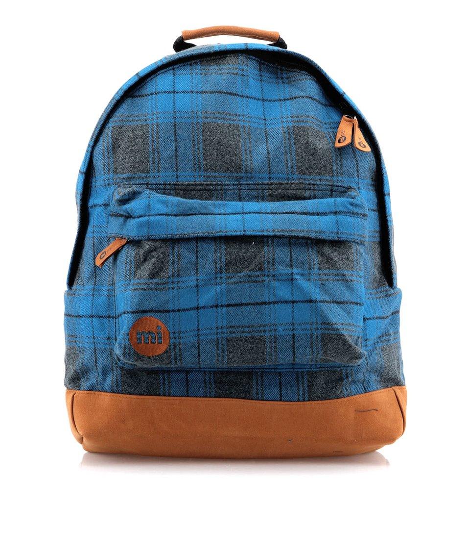 Modrý kostkovaný batoh Mi-Pac Plaid