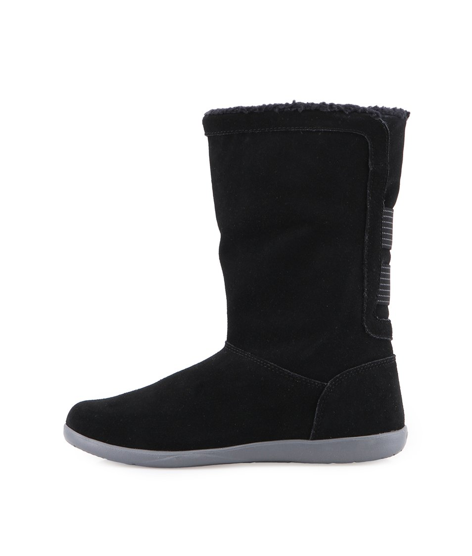 Černé dámské kožené boty Crocs Adela