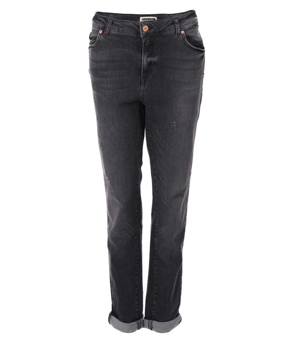 Šedé džíny se sepraným efektem Noisy May Kim