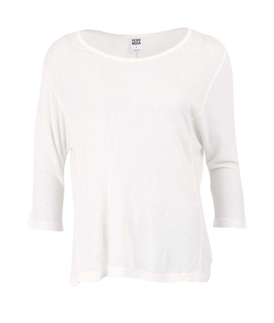 Bílé tričko s 3/4 rukávem Vero Moda Tilde