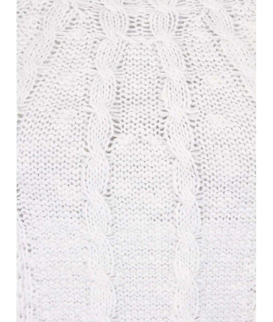 Bílý pletený svetr se stříbrnými nitkami Vero Moda Lurifax