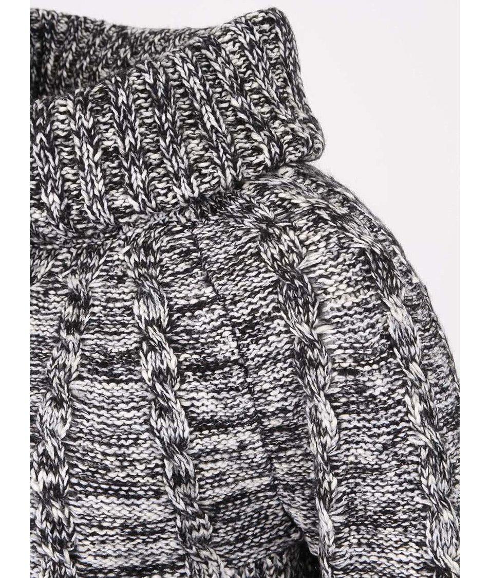 Černý žíhaný svetr se stříbrnými nitkami Vero Moda Lurifax