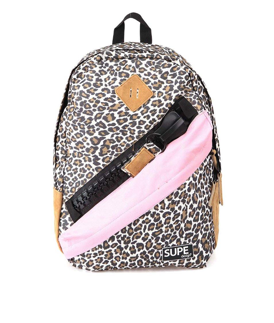 Batoh s leopardím vzorem SUPE design