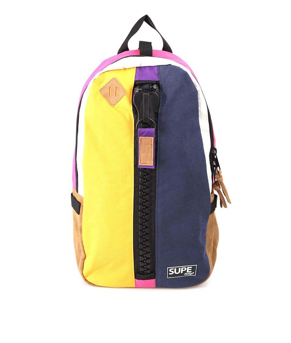 Žluto-modrý batoh SUPE design