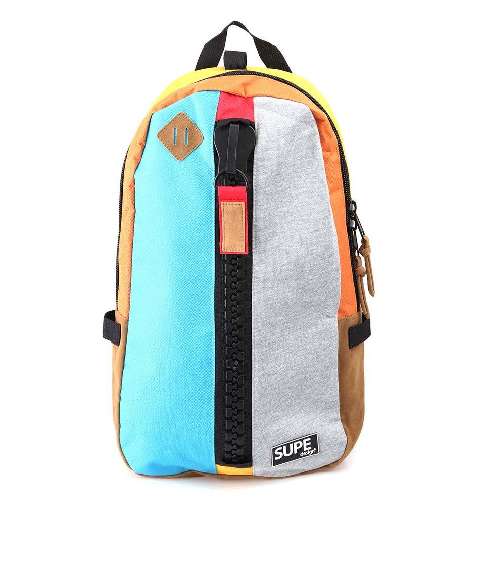 Modro-šedý batoh SUPE design