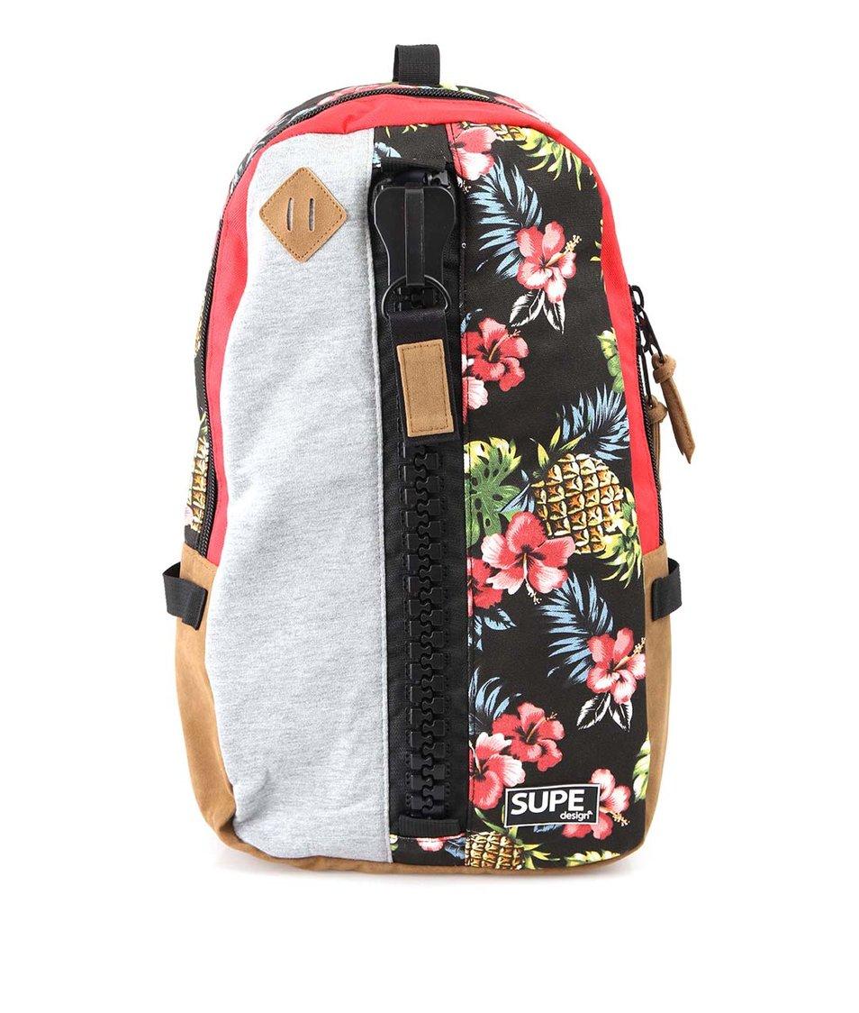 Květovaný batoh SUPE design