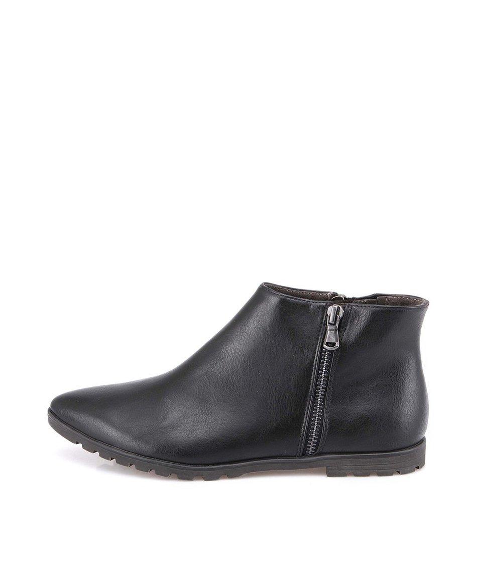 Černé dámské kotníkové boty Tamaris