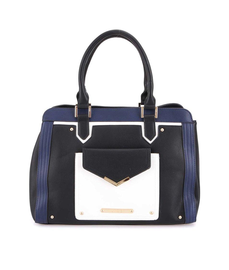 Modro-černá kabelka s bílou kapsou LYDC