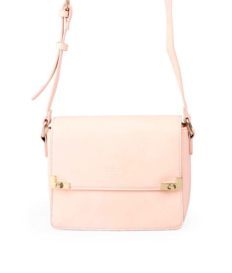 Růžová kabelka přes rameno LYDC
