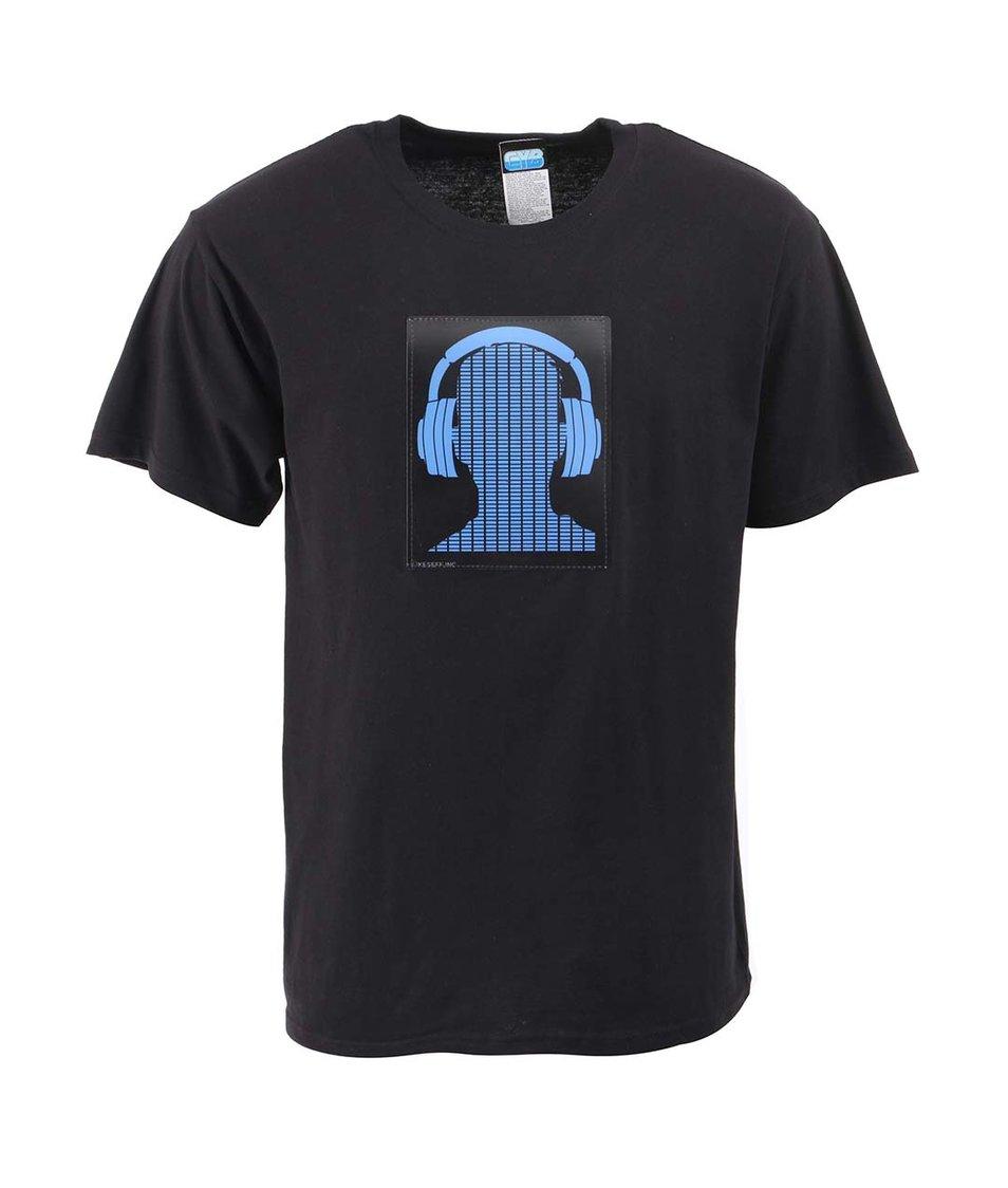 Černé pánské triko CYBwear Hph