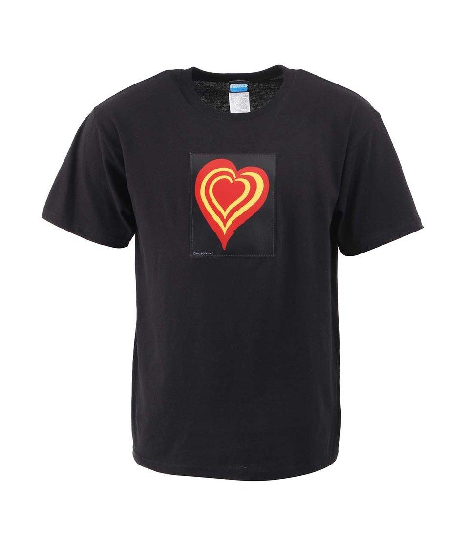 Černé pánské triko CYBwear Heart