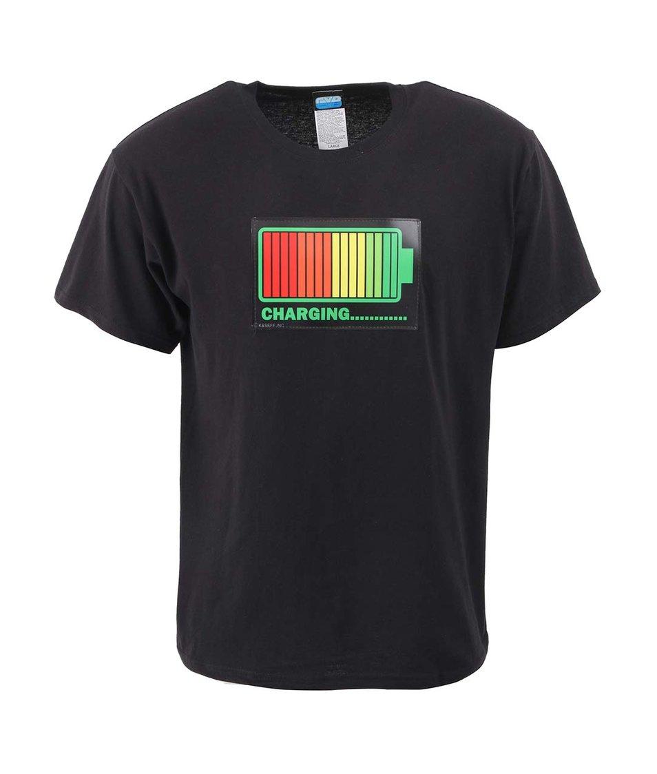 Černé pánské triko CYBwear Charging