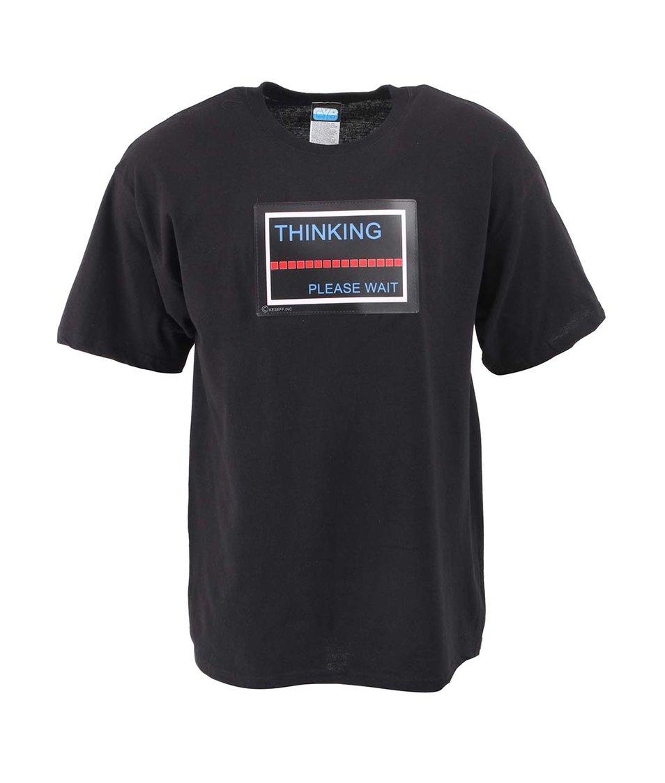 Černé pánské triko CYBwear Thinking