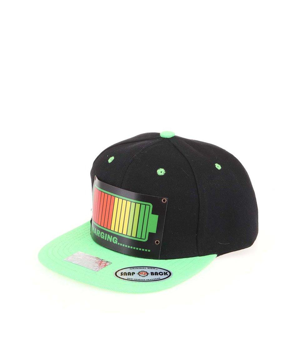 Zeleno-černá kšiltovka CYBwear Charging