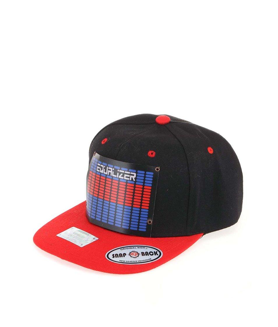 Červeno-černá kšiltovka CYBwear Eq New