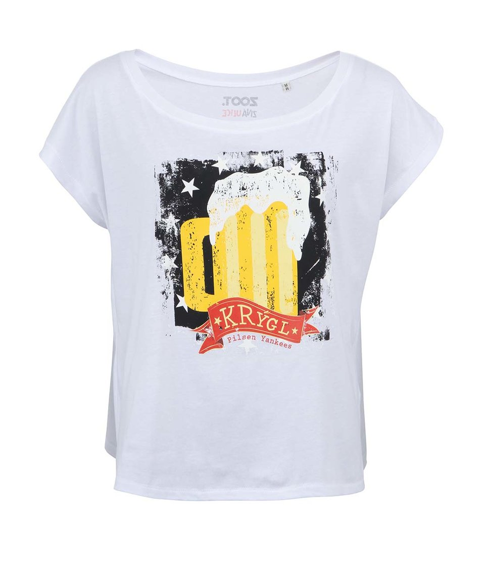 Bílé dámské tričko ZOOT Živá ulice Krýgl
