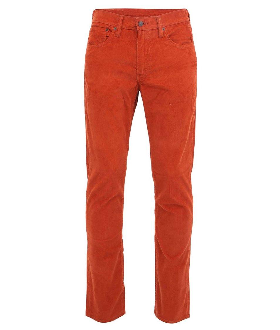 Cihlové pánské manžestrové kalhoty Levi's®