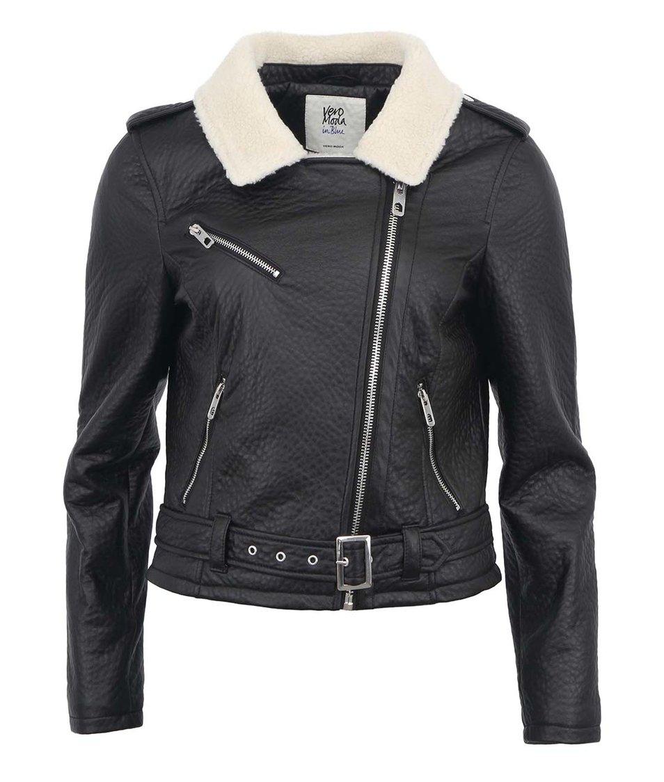 Černá dámská koženková bunda Vero Moda Hella