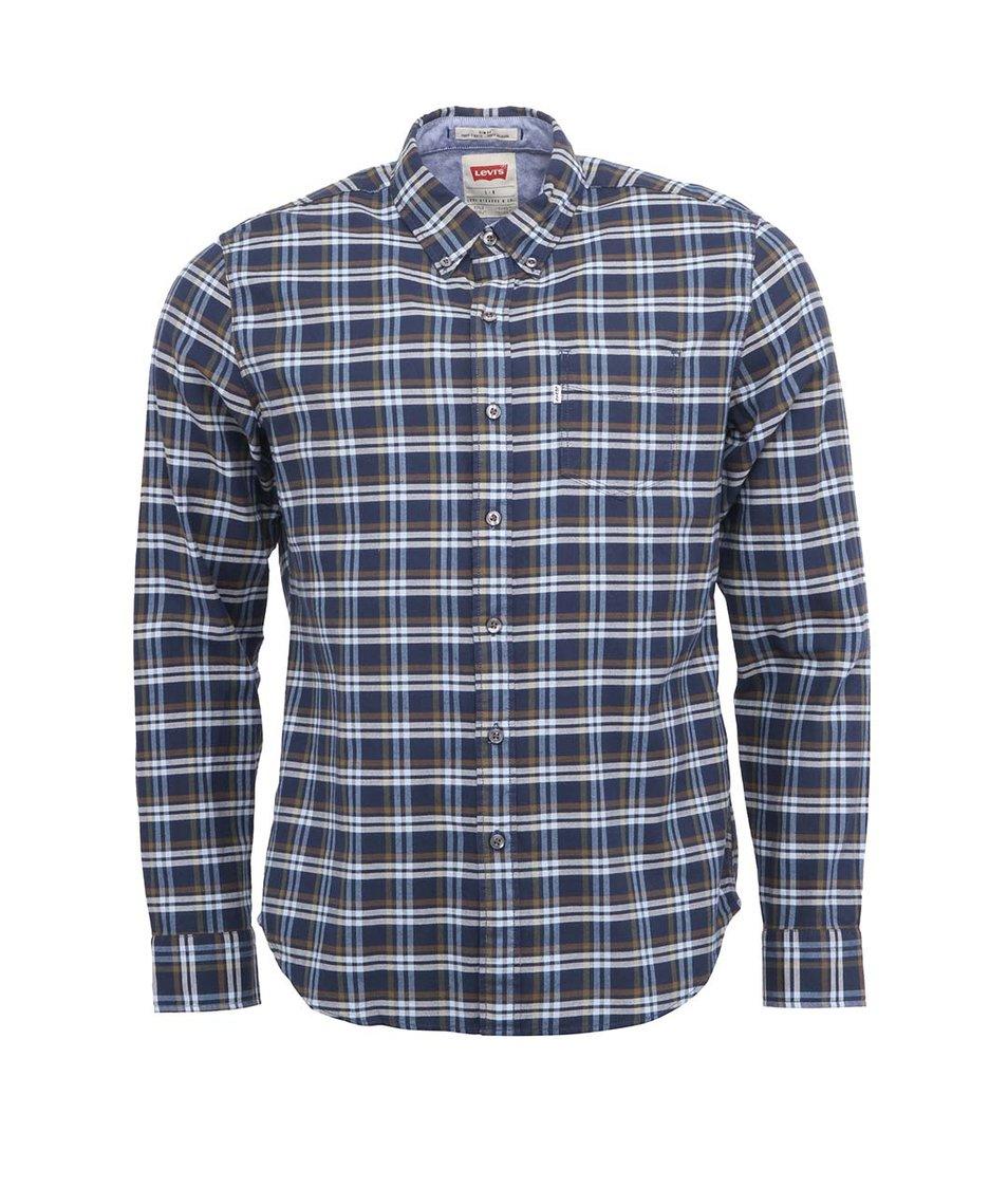 Tmavě modrá kostkovaná pánská košile Levi's®