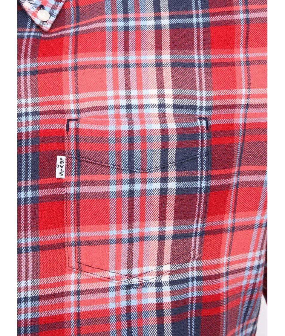 Červená pánská kostkovaná košile Levi s® - Vánoční HIT!  7d3ea5d105