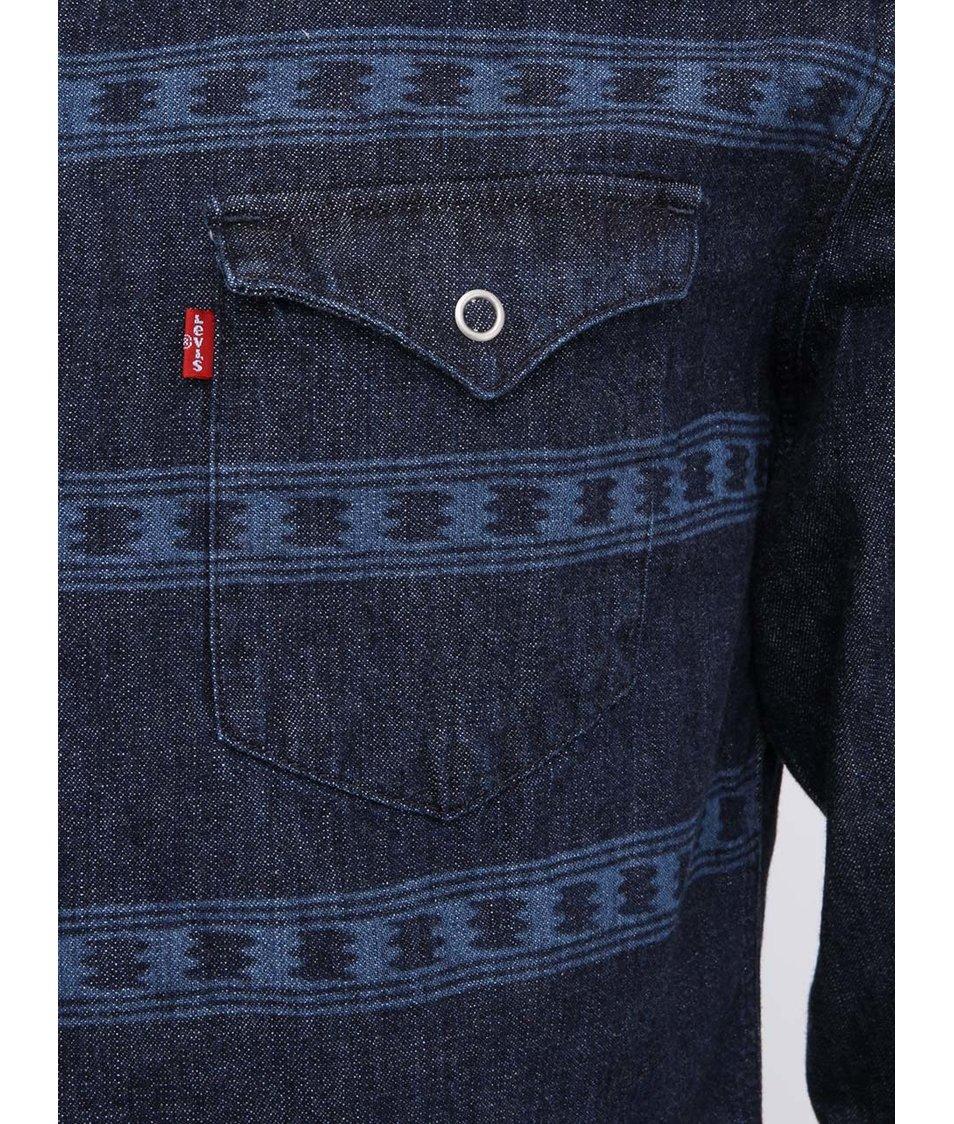 Modrá pánská denimová košile Levi s® - Vánoční HIT!  2c1f3b58be