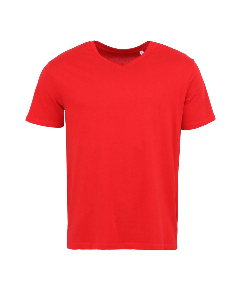 Červené pánské tričko Stanley & Stella Expects
