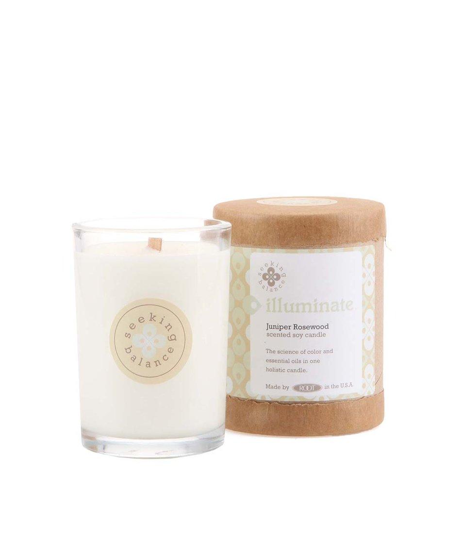 Bílá vonná svíčka Root Candles Juniper Rosewood - Illuminate - SLEVA ... 748b3c90924