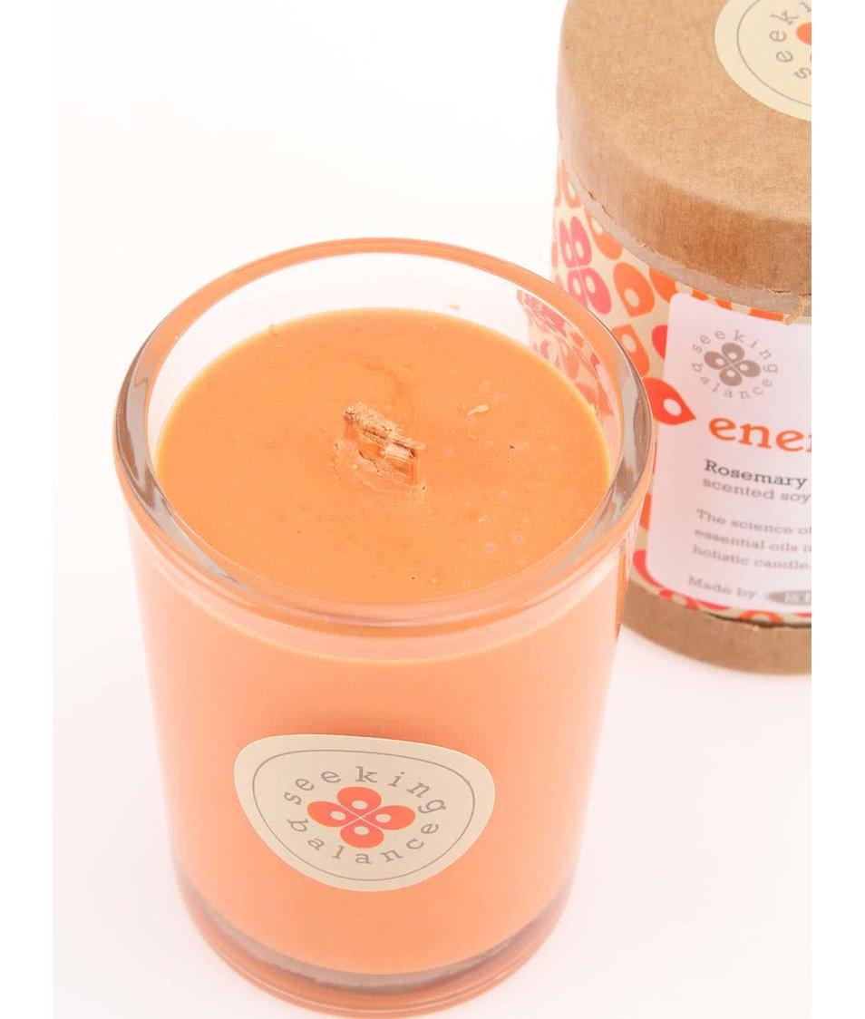 Oranžová vonná svíčka Root Candles Rosemary Eucalyptus - Energize Root  Candles 3df0725c0a2