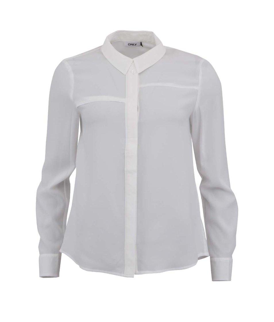 Krémová volnější košile ONLY Jen