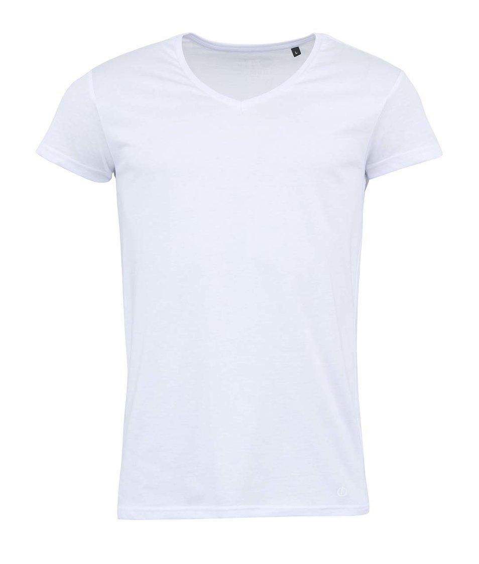 Bílé triko s véčkovým výstřihem !Solid Casper