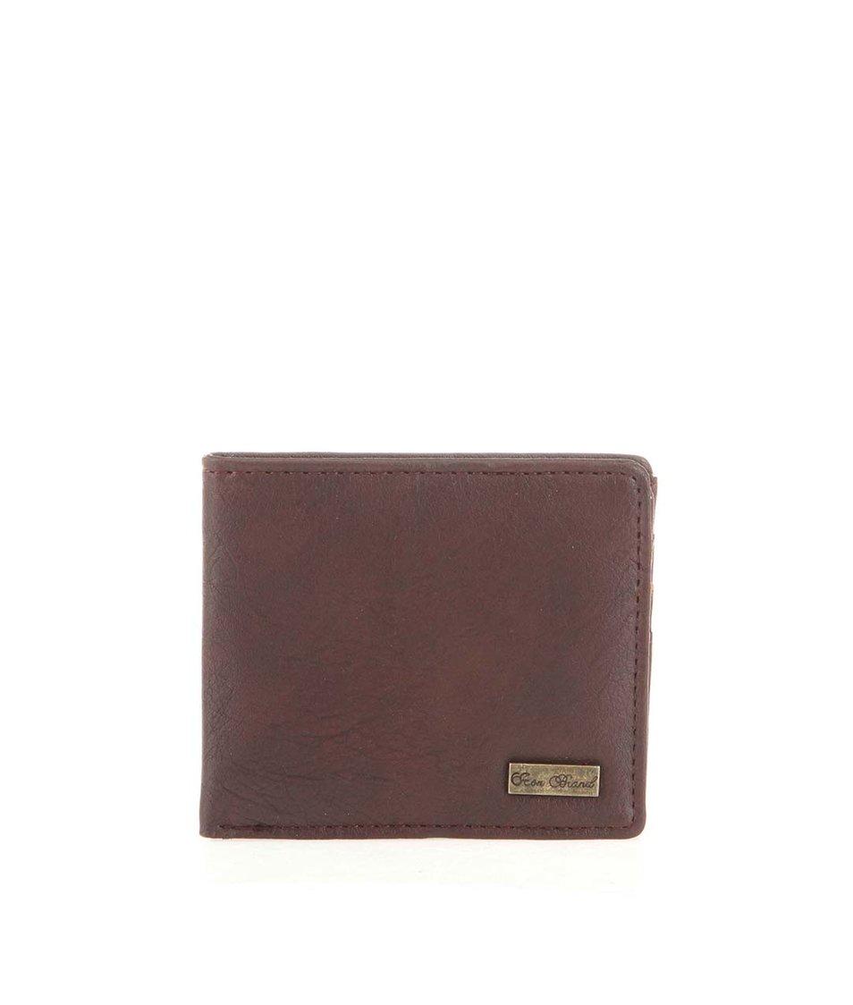 Hnědá peněženka s gumičkou Icon Brand