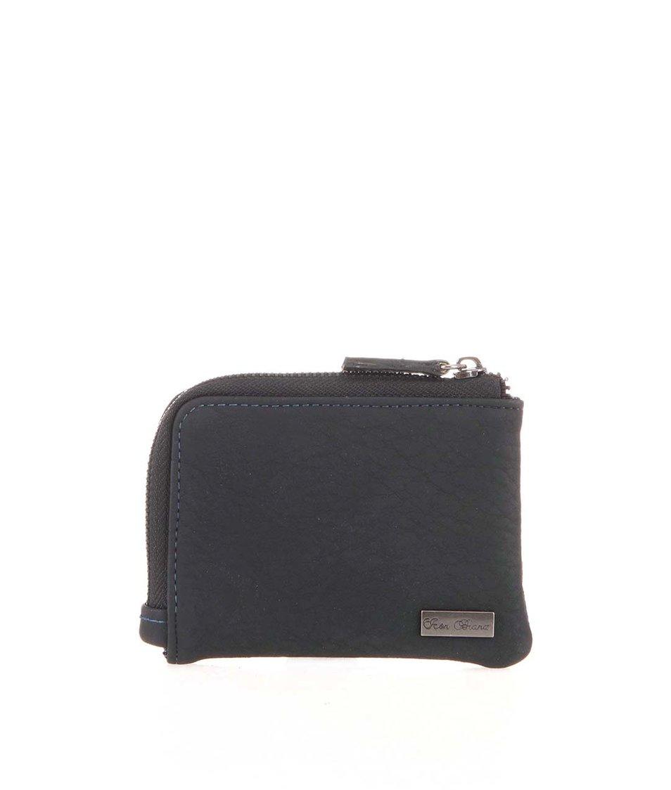 Černá peněženka na zip Icon Brand