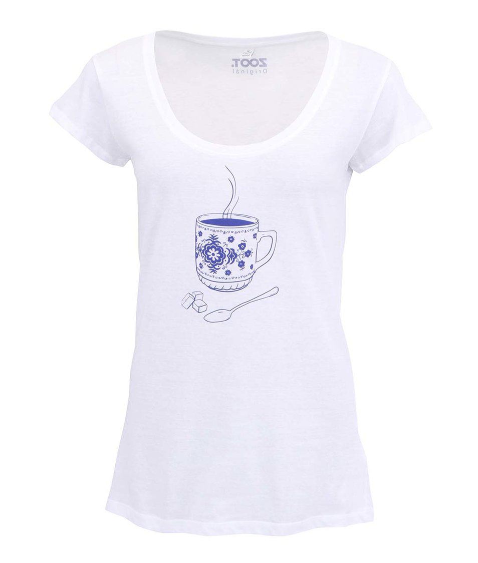 Bílé dámské triko ZOOT Original Hrnek