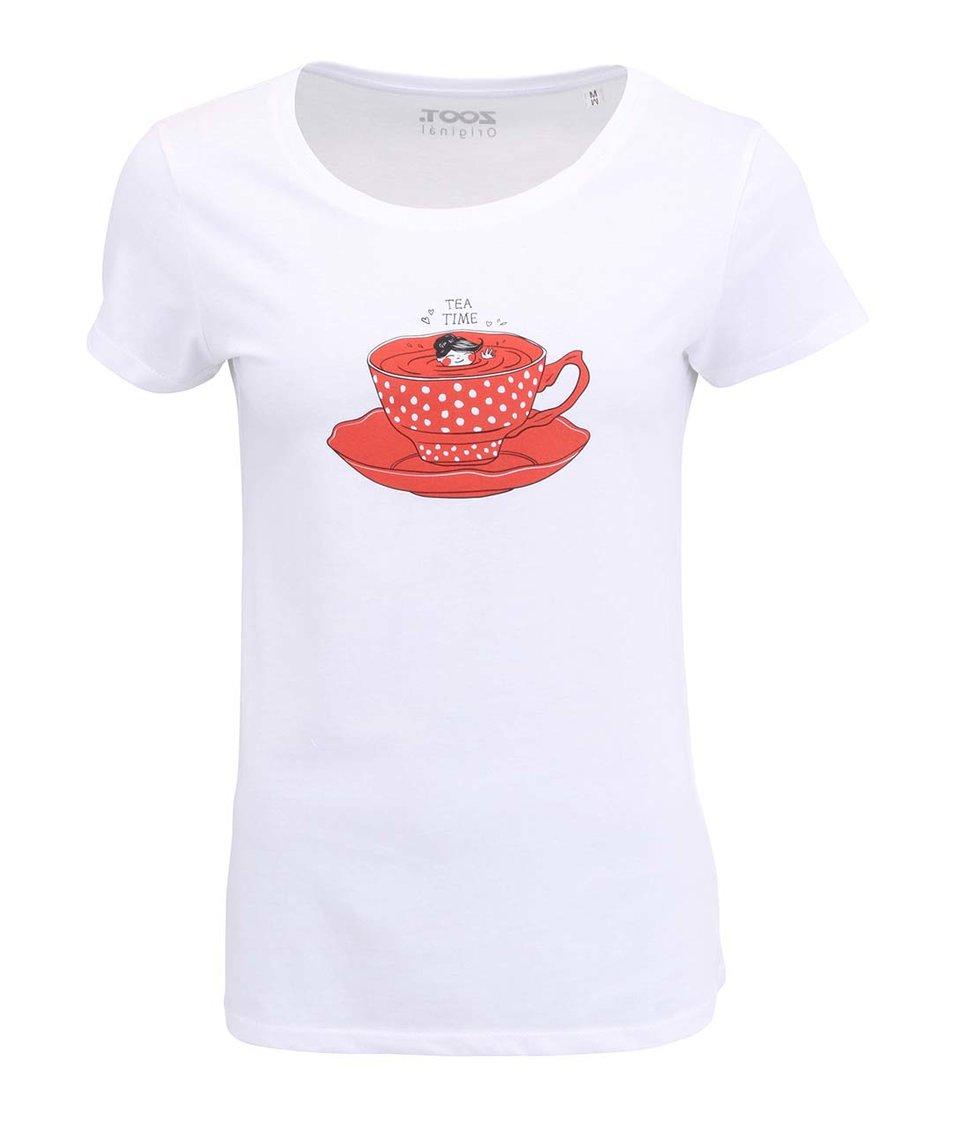 Bílé dámské tričko ZOOT Original Tea time
