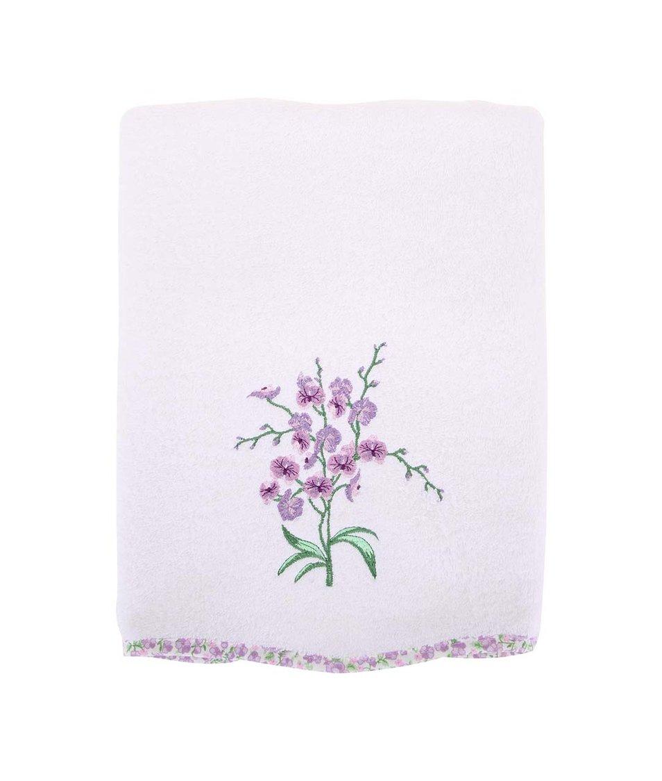 Bílý ručník s květinovým vzorem Sensei WAVY FLOWER