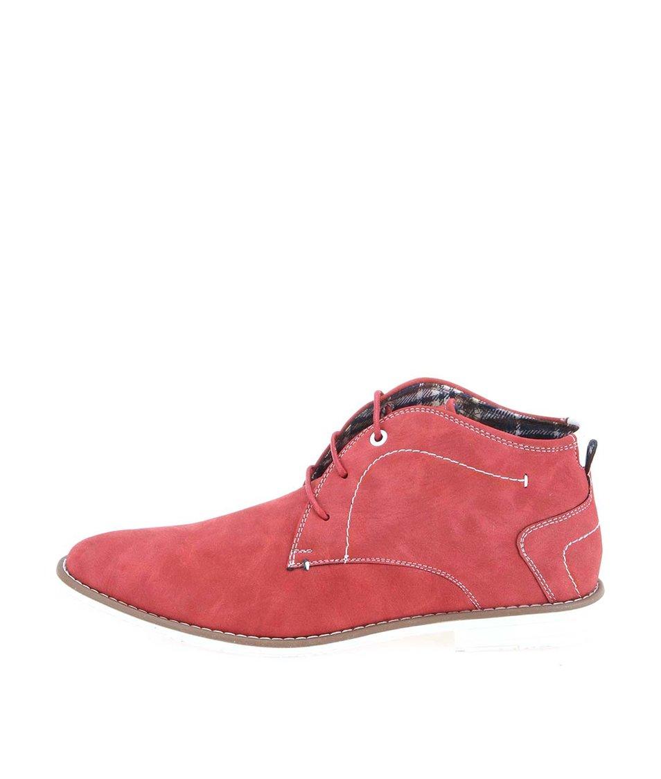 Červené pánské kotníkové boty Coolman