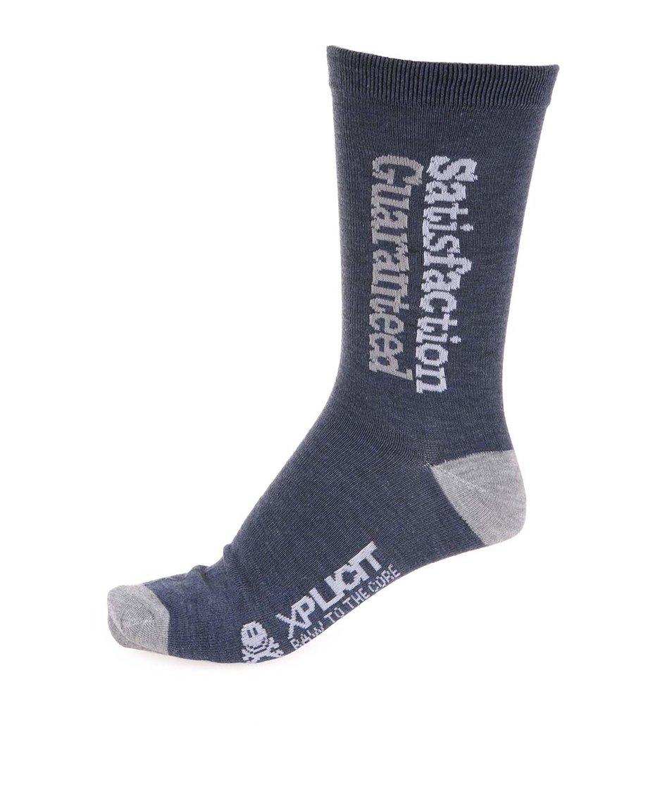 Šedo-modré pánské bavlněné ponožky Xplicit Surety