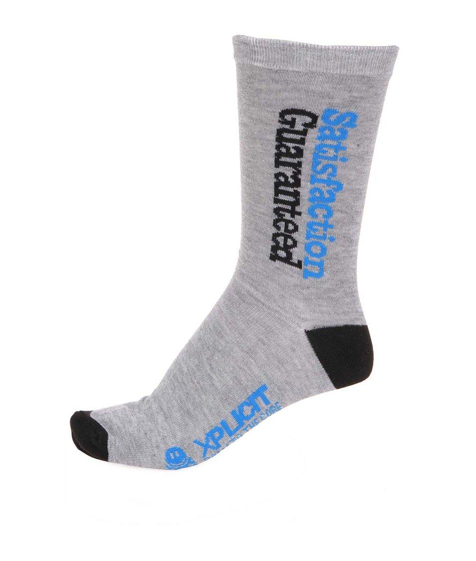 Černo-šedé pánské bavlněné ponožky Xplicit Surety
