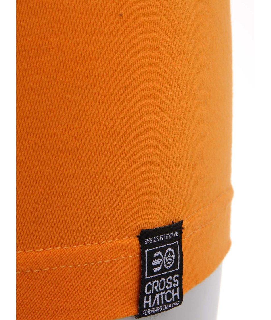 Oranžové boxerky Crosshatch Fireglow