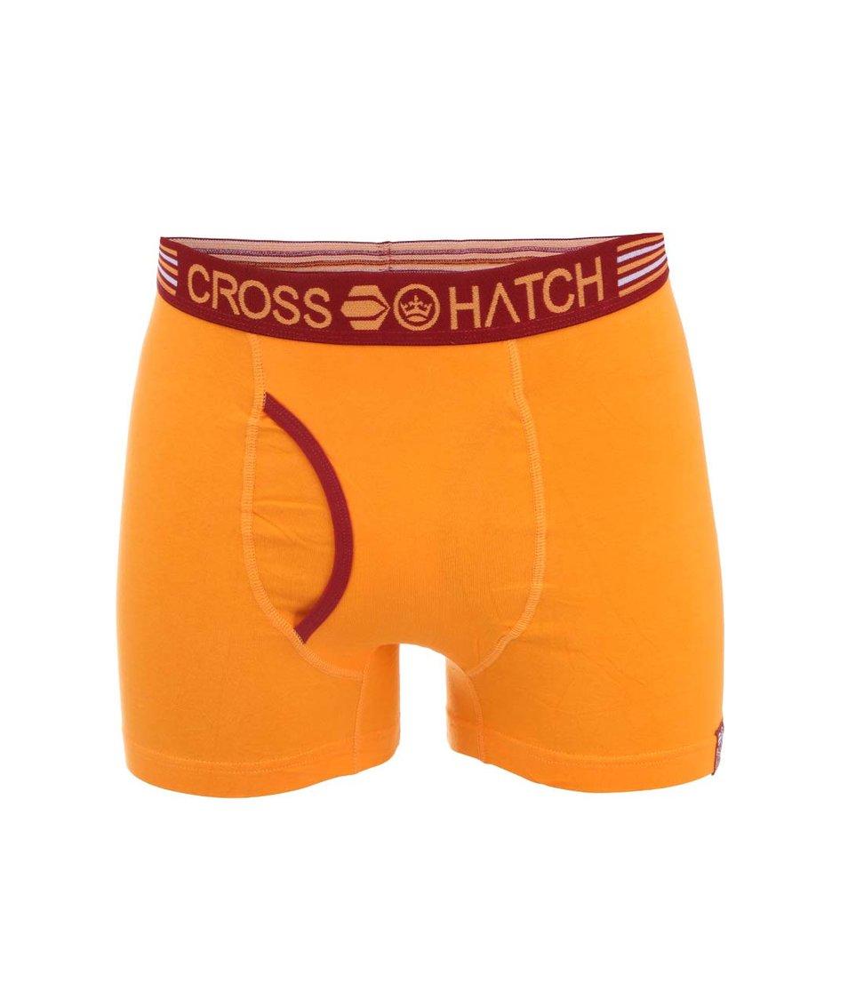 Oranžové boxerky Crosshatch Embers