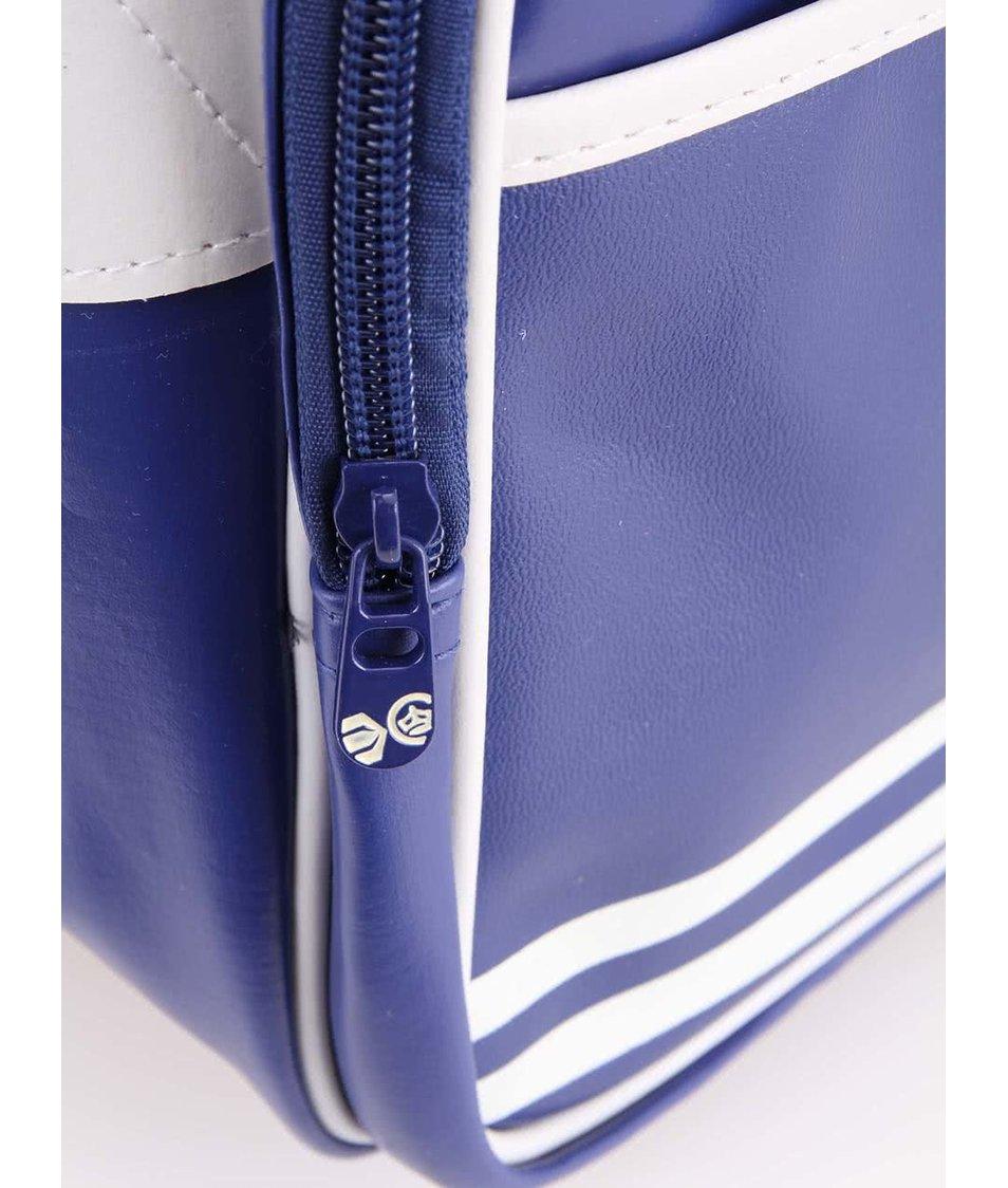Modrá pánská taška s ozdobnými bílými pruhy Crosshatch Walbrook
