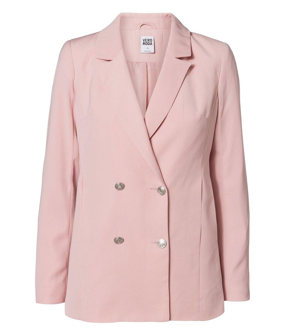 Růžový blejzr Vero Moda Sabi