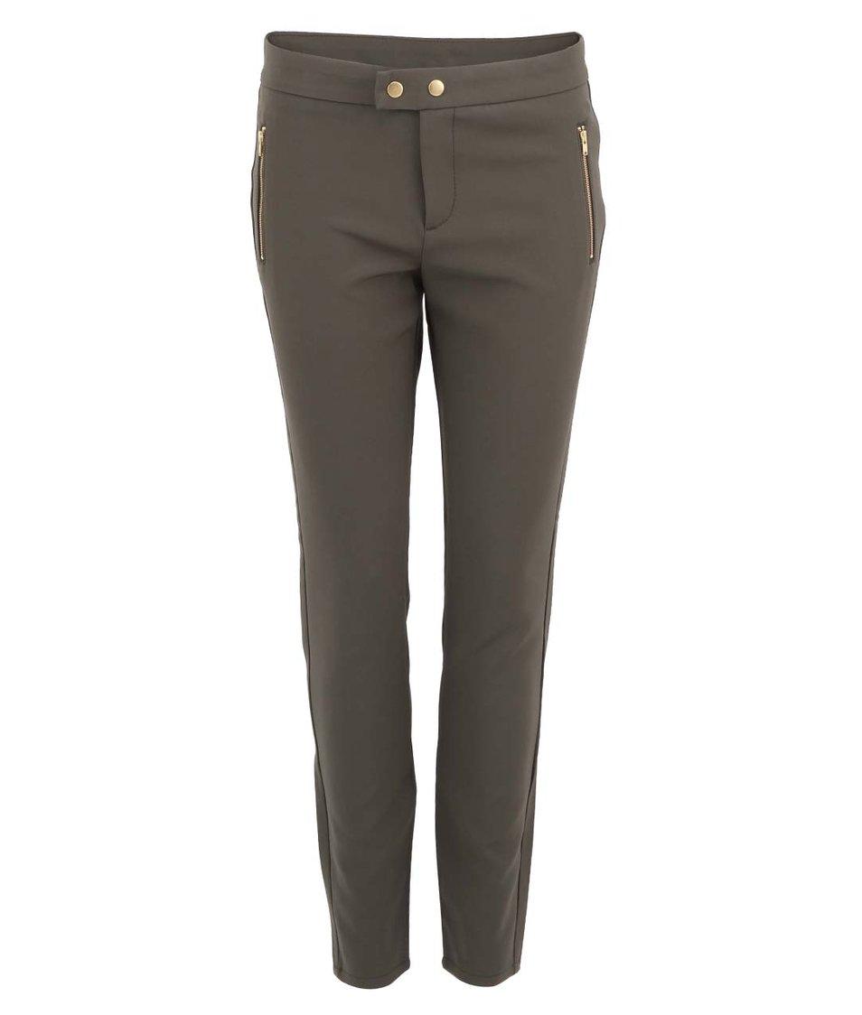Khaki slim kalhoty Vero Moda Sweety