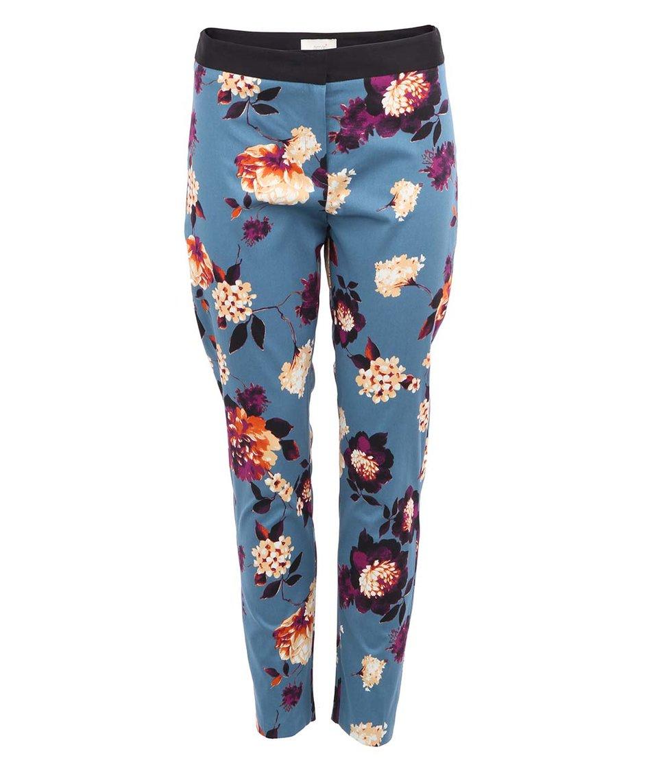 Modré kalhoty s květinovým vzorem Almari