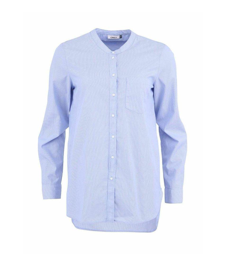 Modrá košile s jemným proužkem ONLY Pinstripe