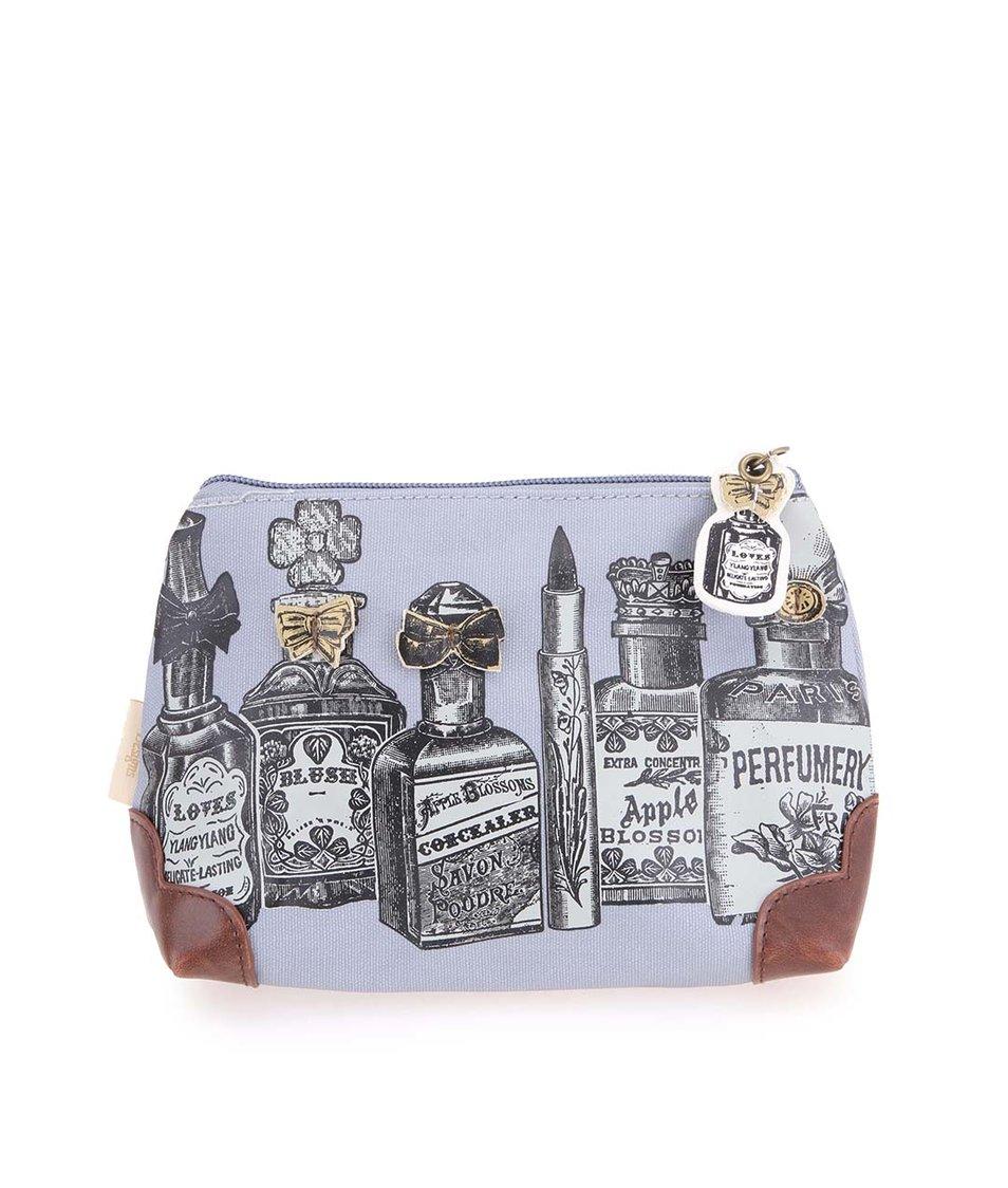 Šedá kosmetická taška s flakony Disaster D'Art